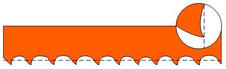форма зубьев psg